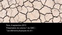 Le premier volume du rapport du GIEC sur le changement climatique