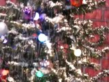 snowing christmas trees - remote working - snow fall effect