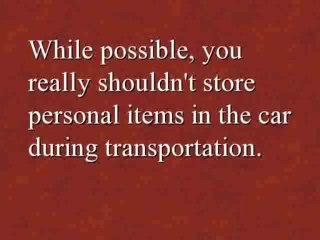 Vehicle Shipping FAQ