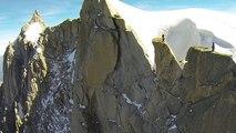 Base Jump wingsuit Rognon du Plan Aiguilles de Chamonix Mont-Blanc Valery Rozov