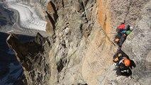 Pilier Sud du Grand Drus voie Contamine Bastien Chamonix Mont-Blanc massif