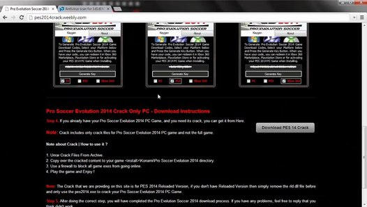 Crack For PES 2014 Free Download Full Game With Keygen  (Singleplayer/Multiplayer)