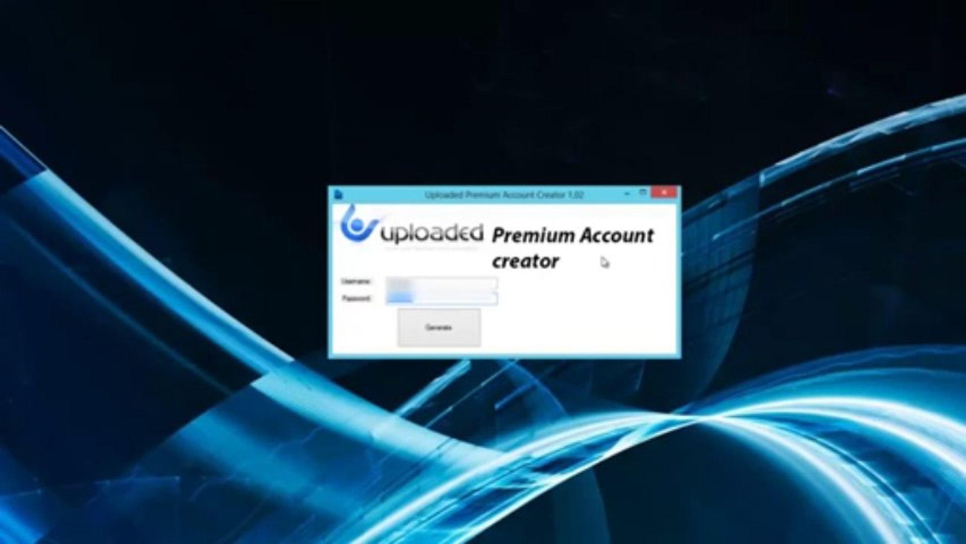 Uploaded Premium Account Generator [Account creator Download]