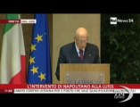 Napolitano: il conflitto politica-giustizia pesa sulla democrazia. Il Presidente alla Luiss: spirale di contrapposizioni