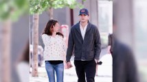 Ashton Kutcher and Mila Kunis Stroll Hand-in-Hand After Attending the Israel Funeral of Kabbalah Chief