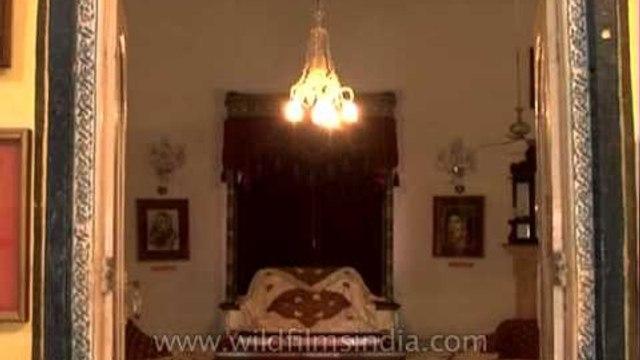 A close view of 'Rani Darbar Gallery' at Jai Vilas Palace