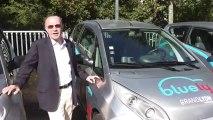 Christian Studer, responsable de Bluely, voiture autopartage électrique en service à Lyon