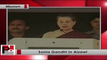 """Sonia Gandhi to Mizoram people: """"Your concerns will be our priorities; your voices will be our guide"""""""