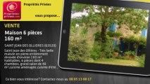A vendre - maison - SAINT JEAN DES OLLIERES (63520) - 6 pièces - 160m²