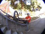 Grosse série de Fails en BMX sur une rampe d'escalier!! Réussir le grind!!