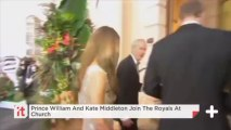Prince William And Kate Middleton Join The Royals At Church