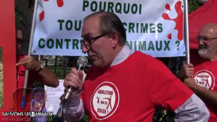 Rassemblement anti chasse + discours de Gérard CHAROLLOIS (21.09.2013)
