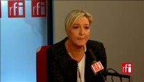 Marine Le Pen, présidente du Front national et du Rassemblement Bleu Marine