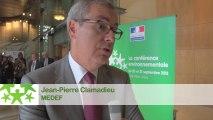 Conférence environnementale 2013 : Itw de Jean-Pierre Clamadieu, MEDEF