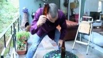 Steve-O vs. Beer Bottle - Dumb guys breaking bottles with head!