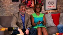 Gayle King, Charlie Rose flip cars in the Toyota Green Room