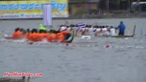 A symbol of long-cherished local art and culture of Thailand, King's Cup 2013 Long Tail Boat Racing