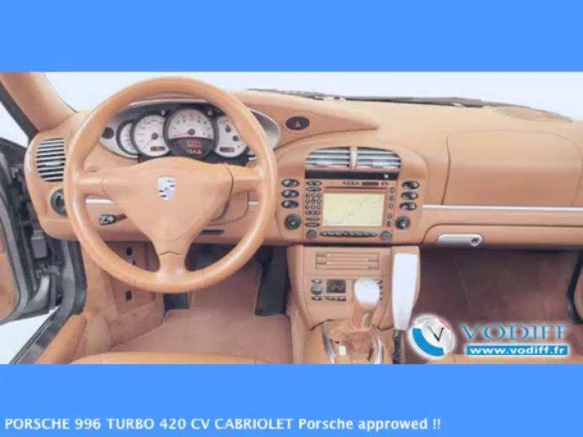 VODIFF : PORSCHE OCCASION ALSACE : PORSCHE 996 TURBO 420 CV CABRIOLET Porsche approwed !!