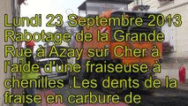 Azay sur Cher Remise en état  Grande Rue (Phase 1)