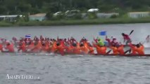 Khao Tao Reservoir in Thailand, King's Cup 2013 Long Tail Boat Racing