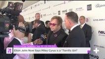 "Elton John Now Says Miley Cyrus Is A ""Terrific Girl"""