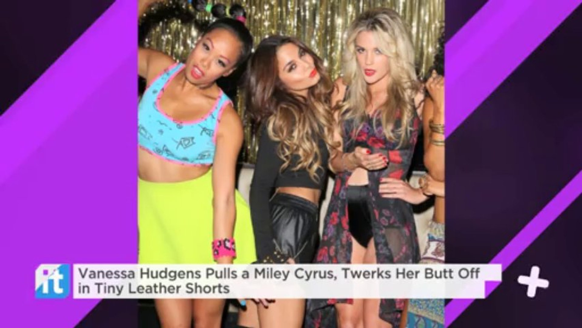 Vanessa Hudgens Pulls A Miley Cyrus, Twerks Her Butt Off In Tiny Leather Shorts