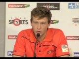 Perth Scorchers bowler Joel Paris press conference