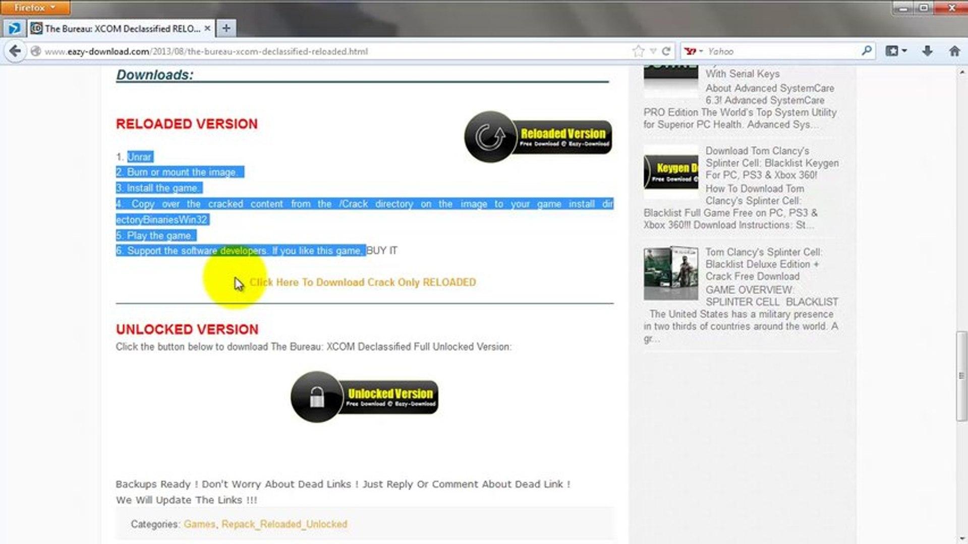 Download The Bureau: XCOM Declassified Crack + Reloaded_repack_unlocked  Version