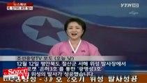 Kuzey Koreli sunucunun roket fırlatma haberi sevinci