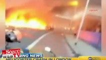 Londra'da helikopter kazası