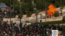 Thousands protest austerity measures in Greece