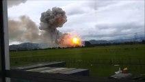 Explosion d'une usine de poudre à Tenjo