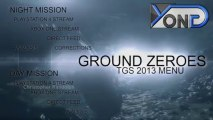 Metal Gear Solid V - Ground Zeroes TGS 2013 Main Menu! Every TGS-Related Video!