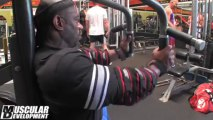 DEXTER JACKSON - Chest Workout  3.5 weeks out from the 2013 Mr. Olympia.