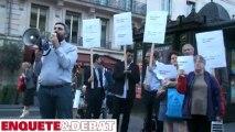 Manifestation du collectif de droite Contre-Attaque devant l'AFP (extraits)
