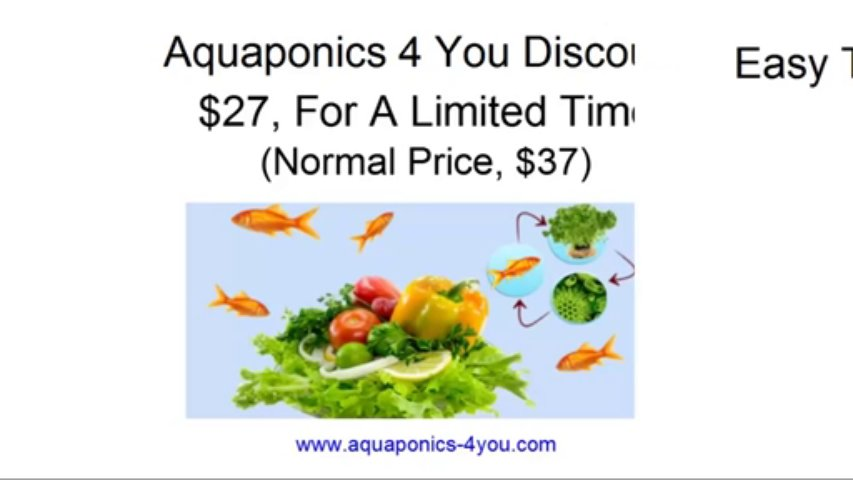 Aquaponics 4 You – $27, For A Limited Time – Normal Price $37 – Aquaponics For You