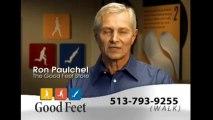 Good Feet arch supports orthotics insoles foot pain Cincinnati plantar fasciitis heel pain relief