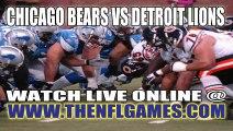 Watch Chicago Bears vs Detroit Lions Live Online Stream September 29, 2013