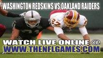 Watch Washington Redskins vs Oakland Raiders Live Online Stream September 29, 2013
