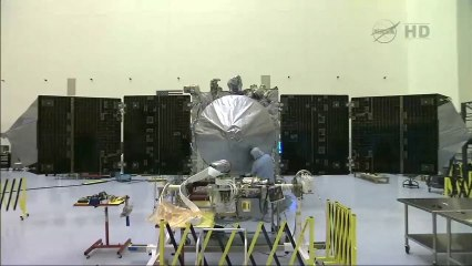 Solar Arrays Attached & Tested on NASA's Mars MAVEN Spacecraft