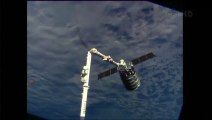 Cygnus Spacecraft Captured by Station's Robotic Arm