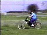 Fat Girl Crashes On Dirt Bike