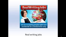 Real Writing Jobs| Get Paid To Write Articles & Stories