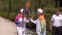 Départ de la flamme Olympique des Jeux de Sochi en 2014!! Jeux Olympiques d'Hiver 2014