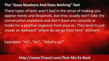 Text Your EX Back Text Examples | Text Your EX Back Sample