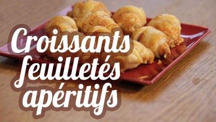Croissants feuilletés apéritifs