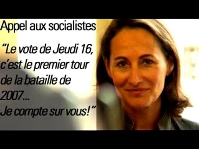 Segolene - Appel aux socialistes