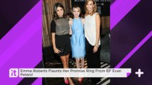 Emma Roberts Flaunts Her Promise Ring From BF Evan Peters!