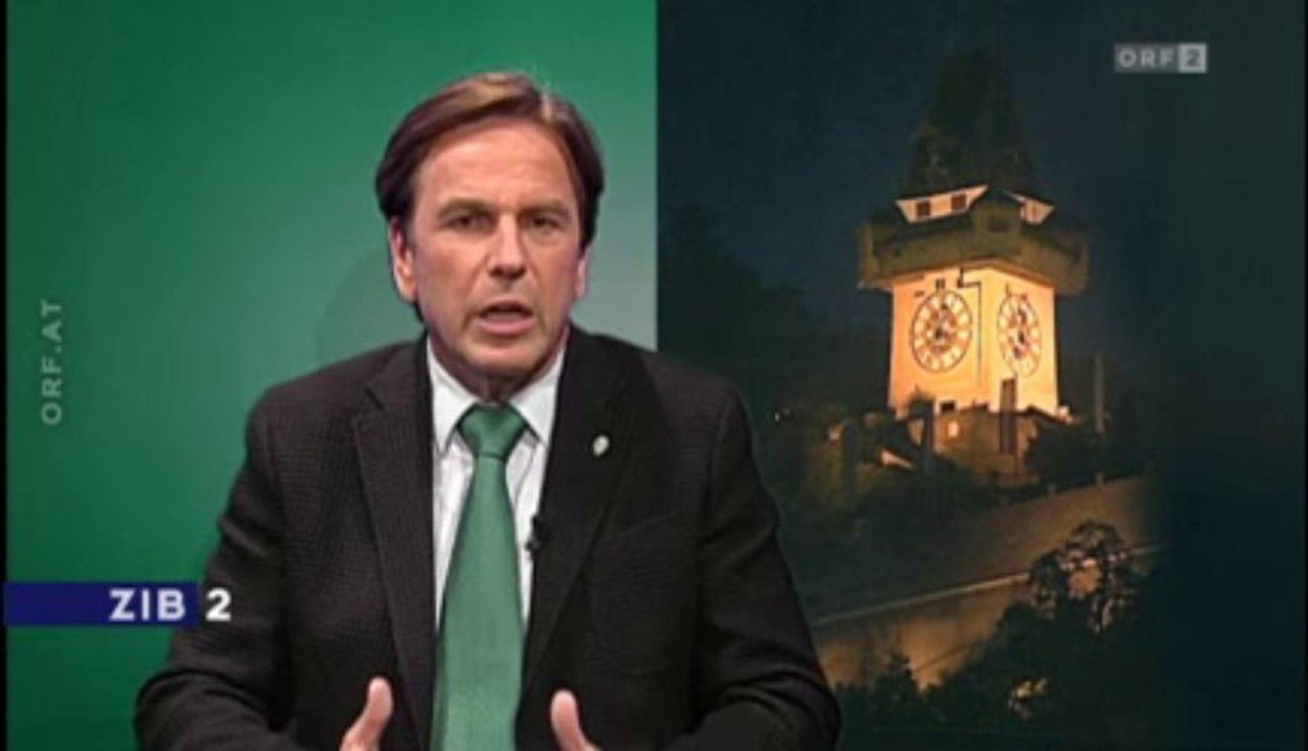 Frank Stronach - tausende Arbeitsplätze in der Steiermark gemacht - sagt Franz Voves SPÖ Landeshaupt