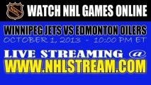 Watch Winnipeg Jets vs Edmonton Oilers NHL Live Stream